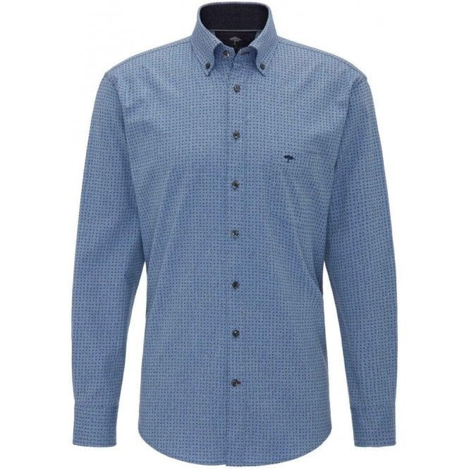 Fynch Hatton Lightweight Flannel Print Shirt