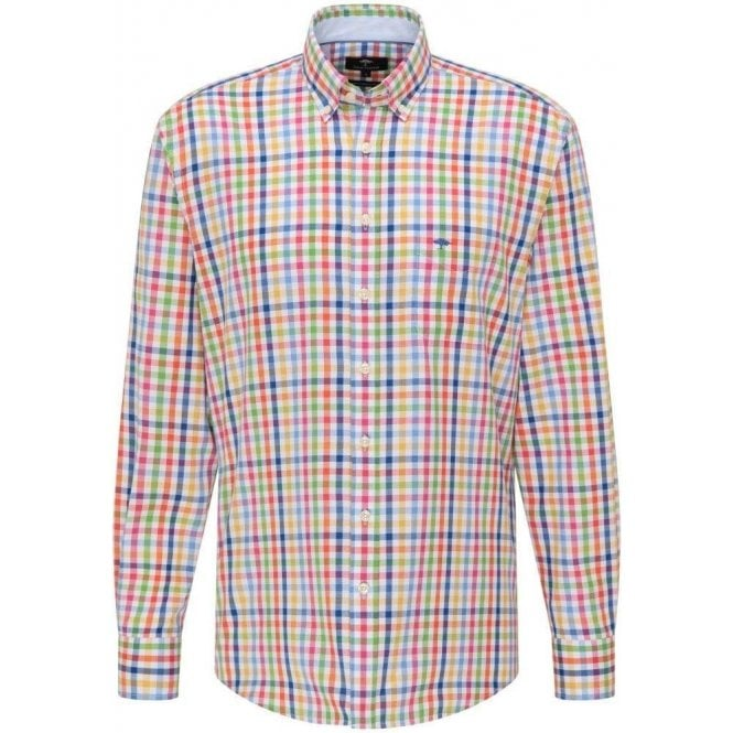 Fynch Hatton Patterned Casual Fit Cotton Shirt