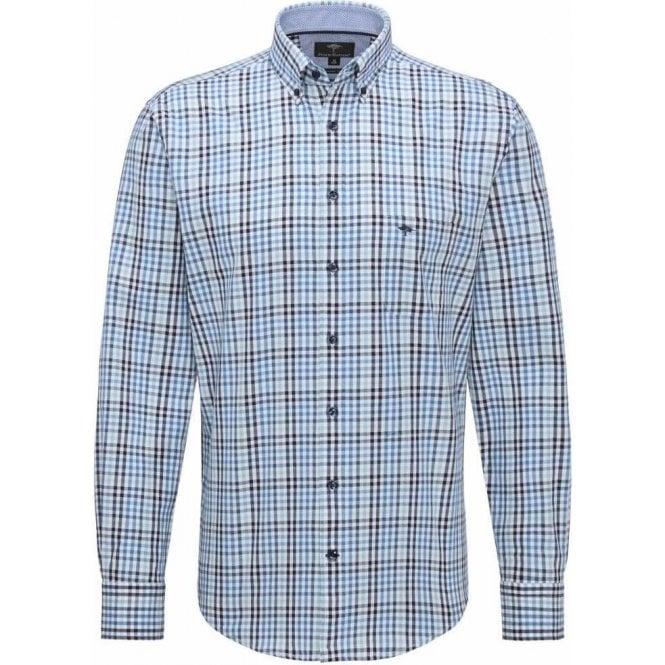 Fynch Hatton Plaid Casual Fit Twill Shirt