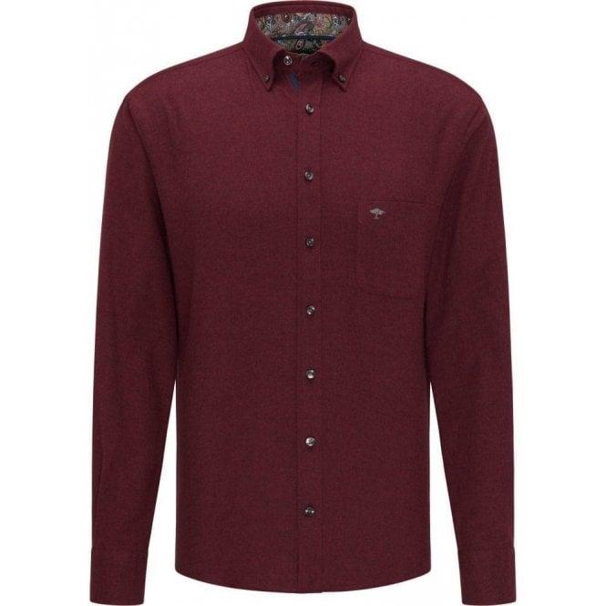 Fynch Hatton Premium Flannel Shirt With Stand-Up Collar