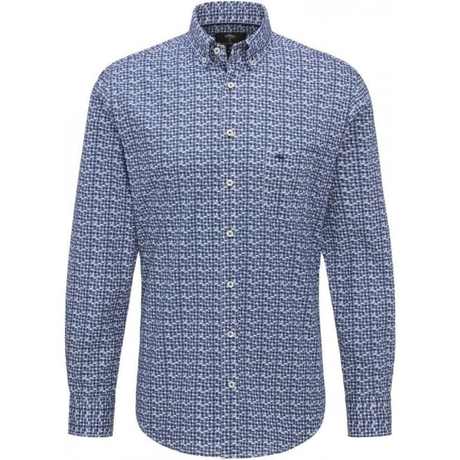 Fynch Hatton Printed Casual Fit Shirt