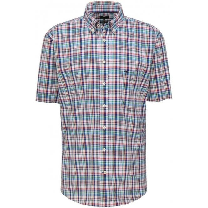 Fynch Hatton Pure Cotton Casual Fit Checked Shirt