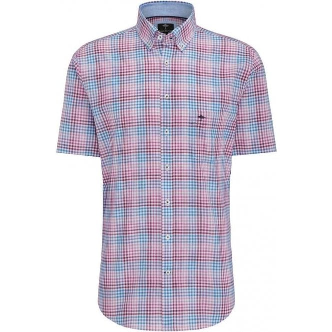Fynch Hatton Short Sleeve Shirt with Checks