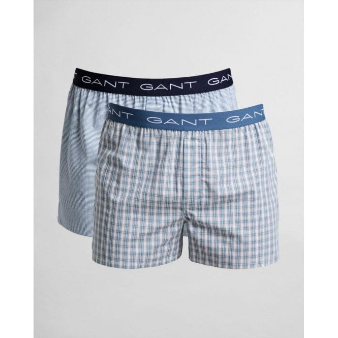 GANT 2-Pack Gradient Check Boxer Shorts