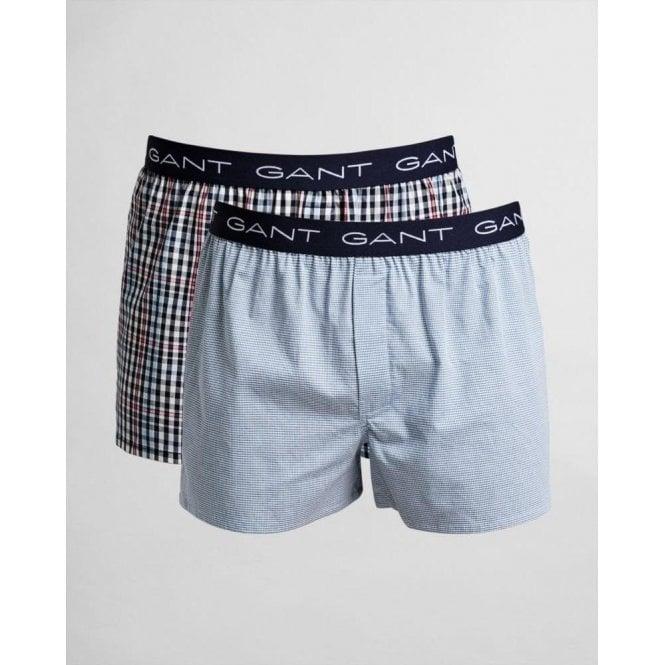 GANT 2-Pack Mini Gingham Boxer Shorts