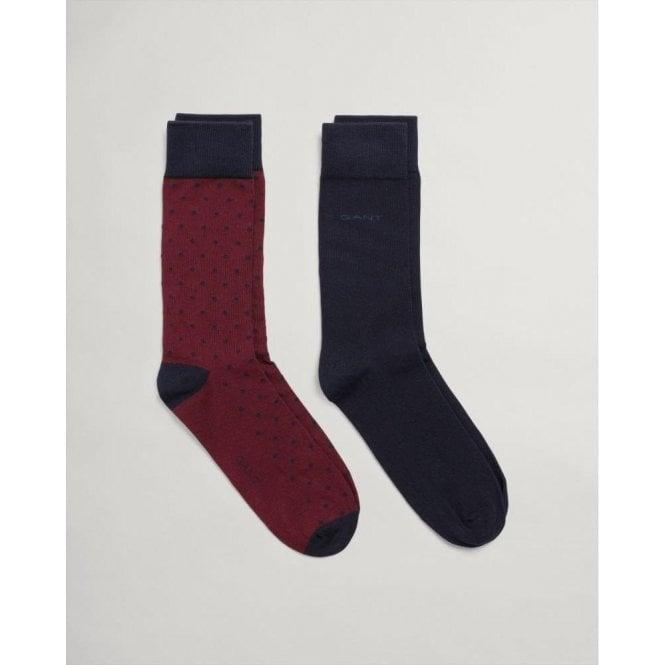 GANT 2-Pack Solid & Dot Socks