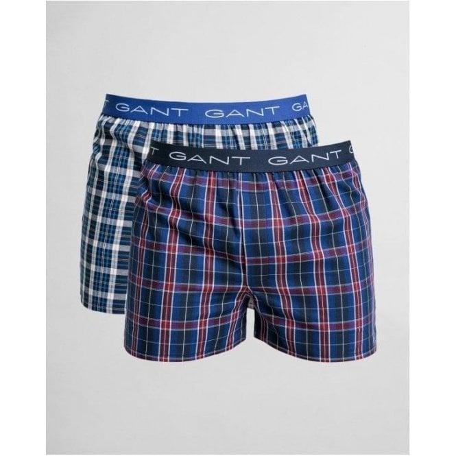GANT 2-Pack Tartan/Blue Check Boxer Shorts