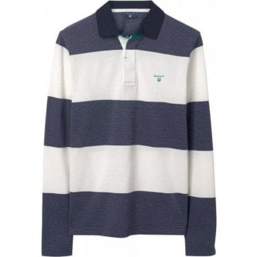3-Color Oxford Rugby Shirt with stripes