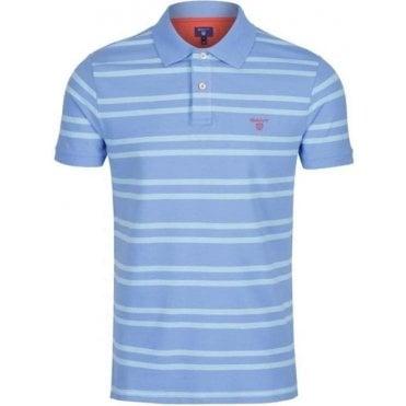 3-Colour Contrast Piqué Rugby Shirt
