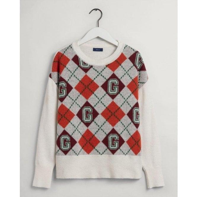GANT Argyle Crew Neck Sweater