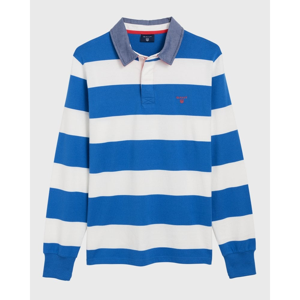 659515b92df Source · GANT Barstripe Rugby Polo Shirt Mens Tops & T Shirts O&C Butcher