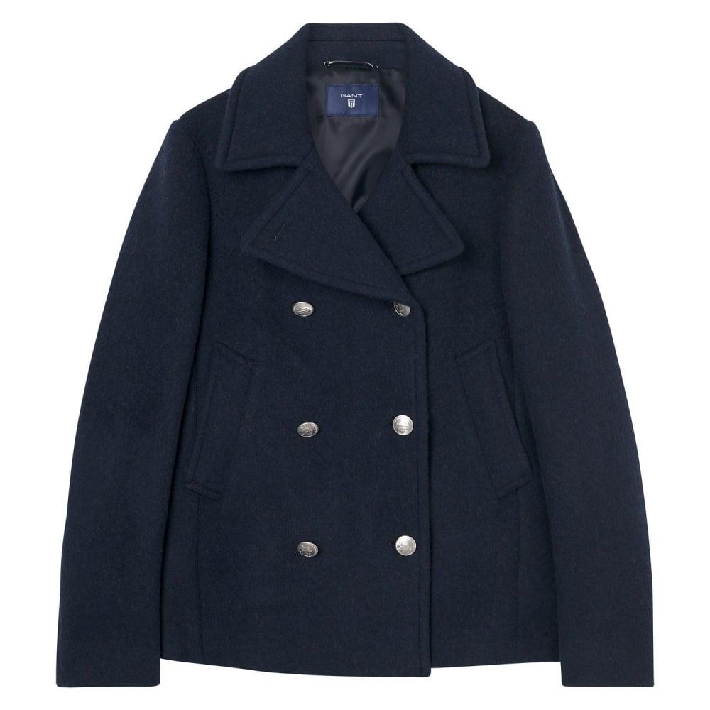 8b0534329bf GANT Bonded Wool Pea Coat - Womens Coats & Jackets: O&C Butcher