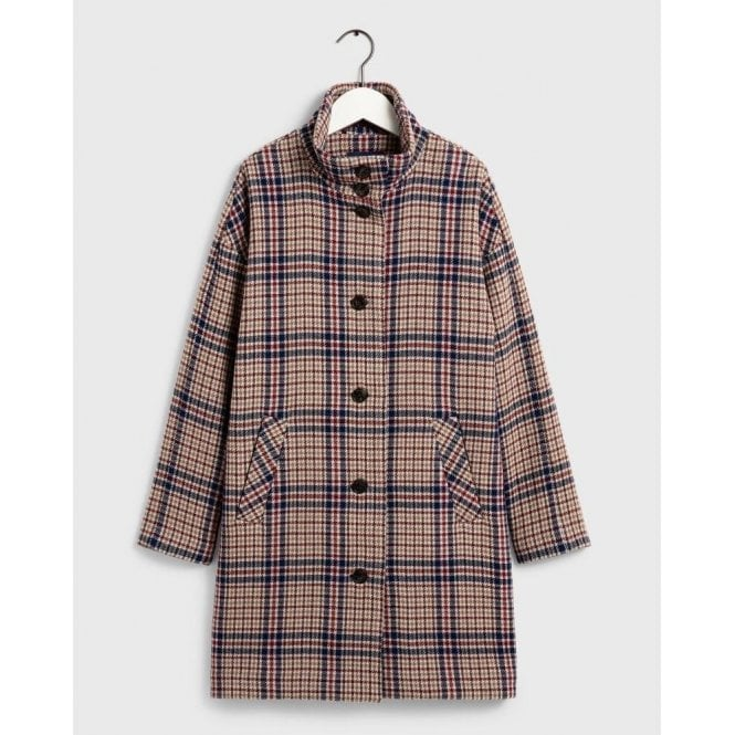 GANT Checked Cocoon Coat