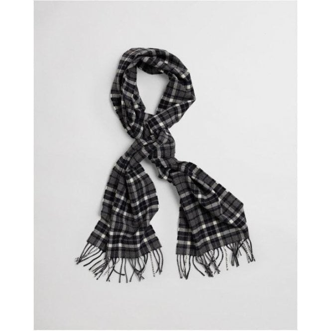GANT Checked Twill Wool Scarf