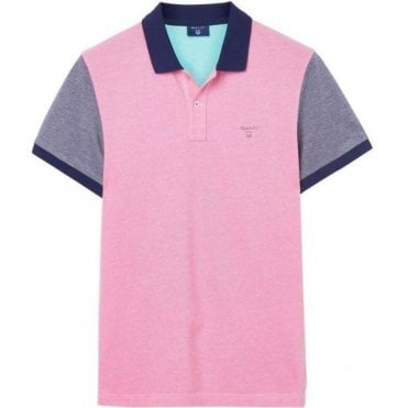 Color Block Oxford Polo Shirt