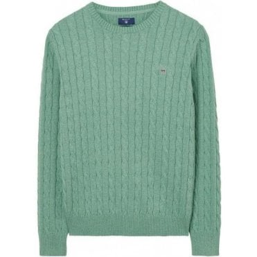 Cotton Cable Crewneck Jumper