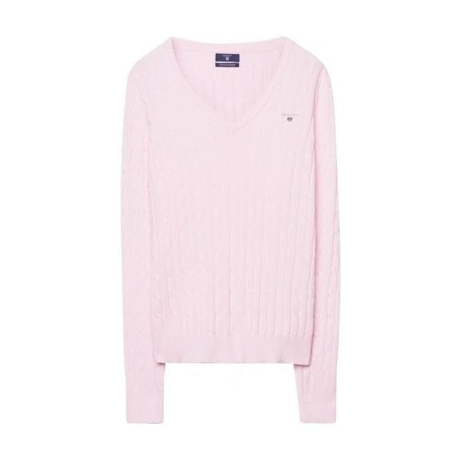GANT Cotton Cable V-Neck Jumper