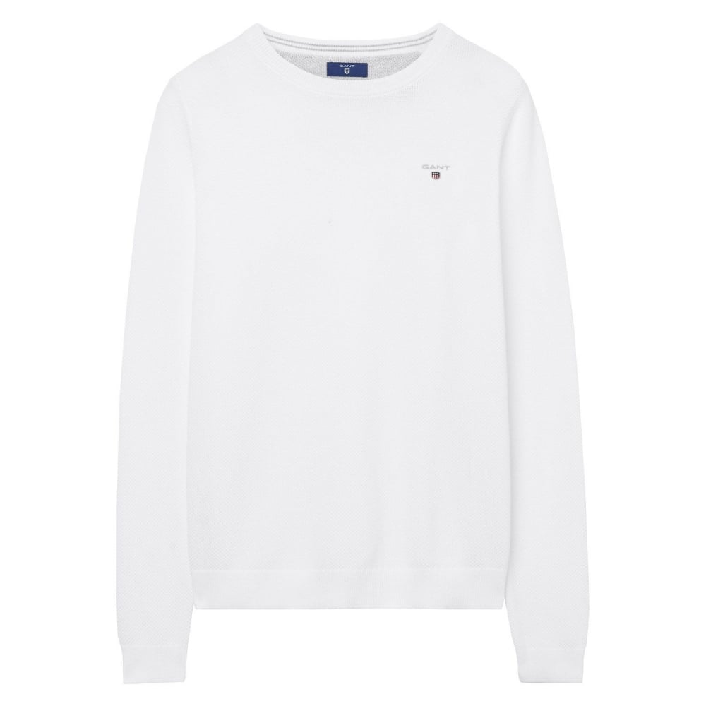 where can i buy delicate colors most reliable GANT Cotton Piqué Crew Sweater