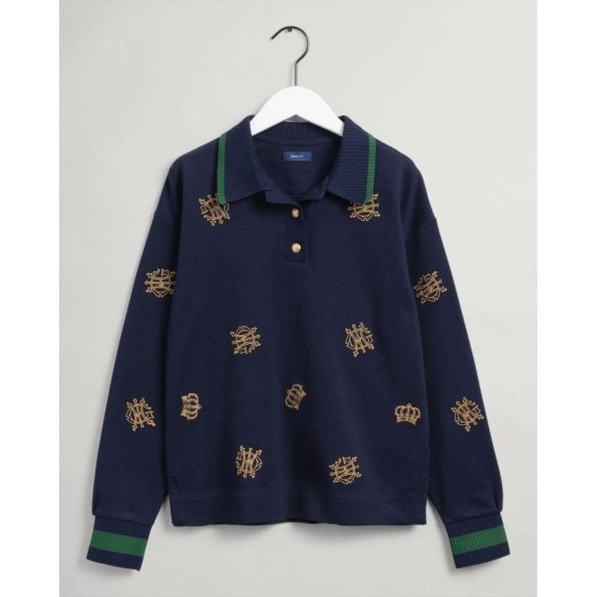 GANT Crown Embroidery Heavy Rugger Top