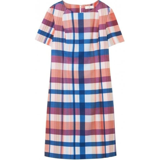 GANT Diamond G Madras Print Shift Dress