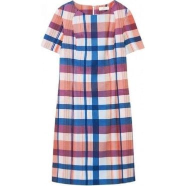 Diamond G Madras Print Shift Dress