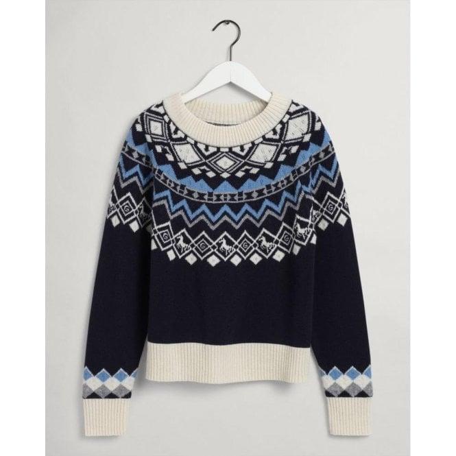 GANT Fair Isle Crew Neck Sweater