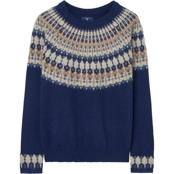 GANT Fairisle Crew Sweater - Womens Knitwear: O&C Butcher
