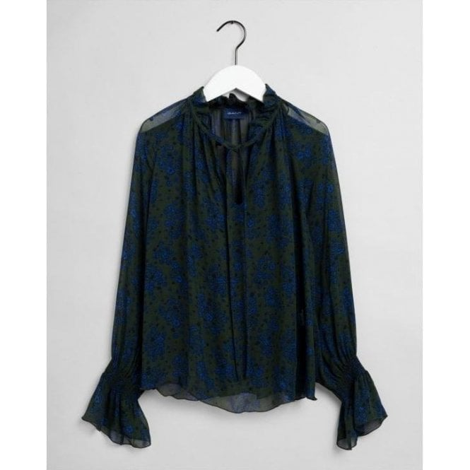 GANT Fall Flower Crinkle Blouse