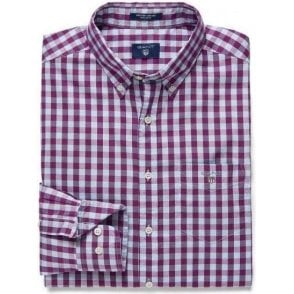 Heather Oxford Gingham Checked Shirt