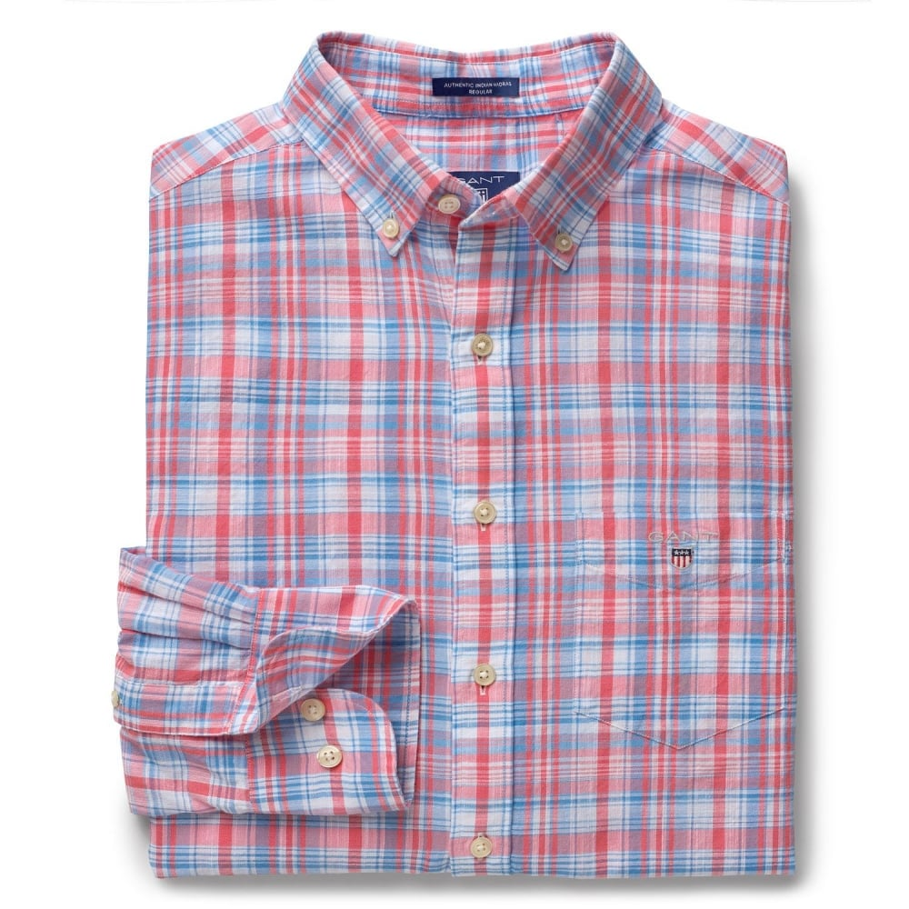 GANT Indian Madras Shirt - Mens Shirts  O C Butcher 7fe0aabc4b