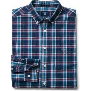 Indigo Broadcloth Check Shirt