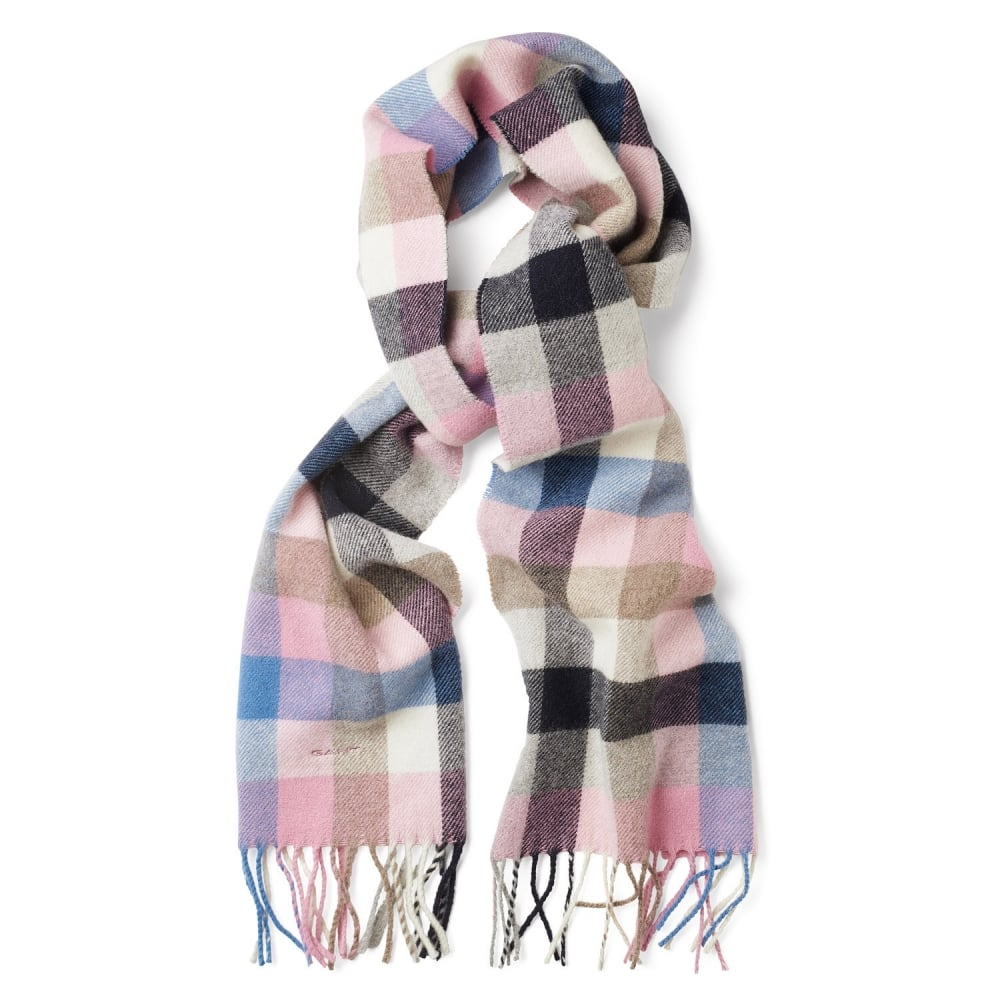 GANT Multi-Checked Lambswool Scarf - Women Latest Products Available ... 47d8db96bb5
