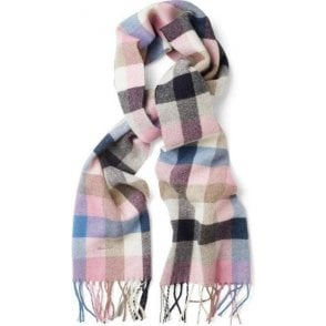 Multi-Checked Lambswool Scarf