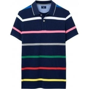 Multi-Stripe Piqué Polo Shirt