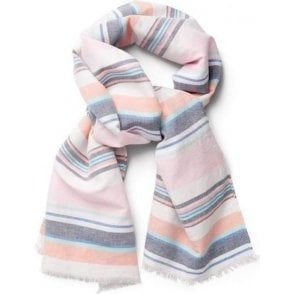 Multistripe Cotton Linen Scarf