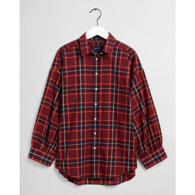 GANT Oversized Tech Prep™ Plaid Oxford Shirt
