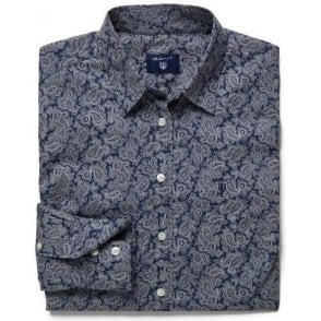 Paisley Stretch Broadcloth Shirt