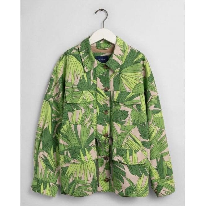 GANT Palm Breeze Print Field Jacket
