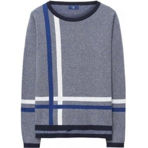 Placed Check Crewneck Jumper