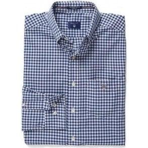 Poplin Gingham Check Shirt