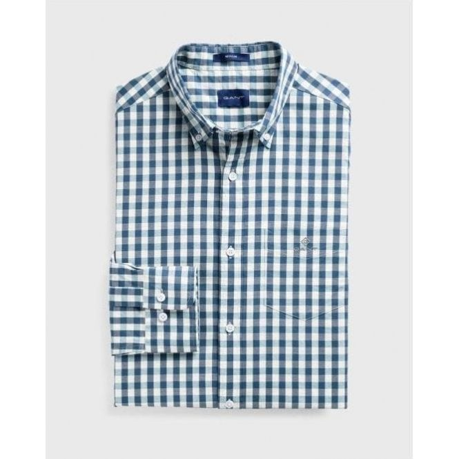 GANT Regular Fit Gingham Heather Oxford Shirt