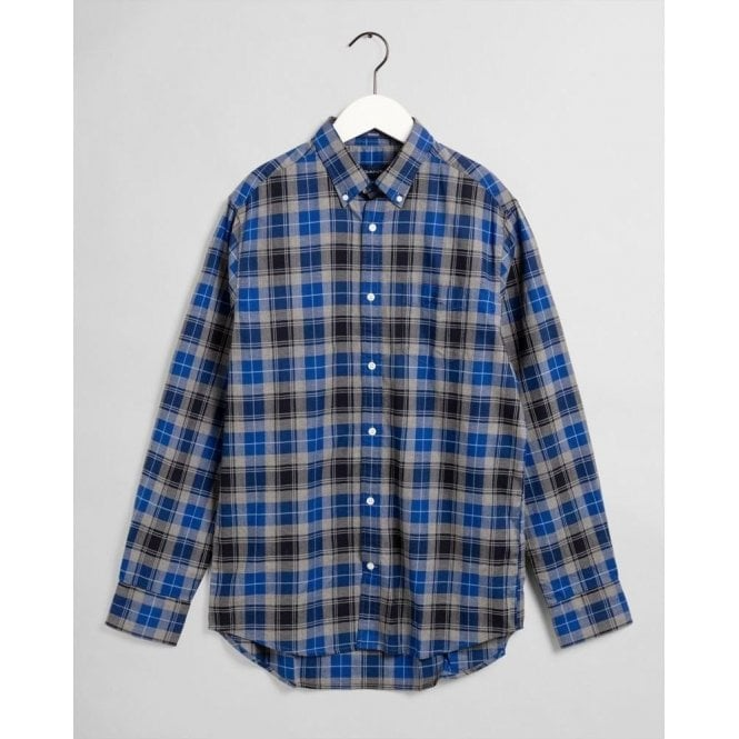 GANT Regular Fit Melange Herringbone Check Shirt