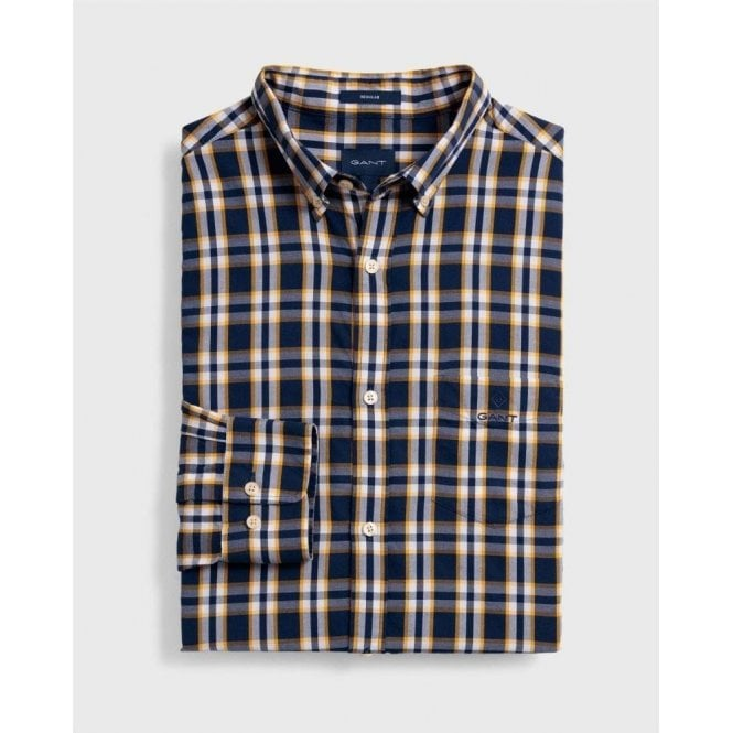 GANT Regular Fit Windblown Oxford Plaid Shirt