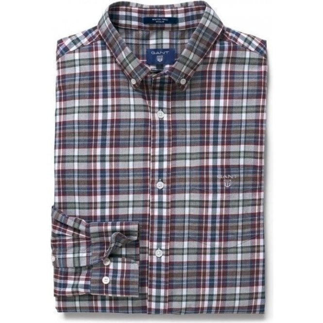 GANT Regular Winter Twill Melange Plaid Shirt