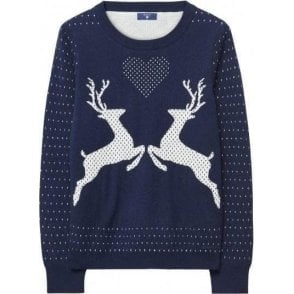 Reindeer Crew Sweater