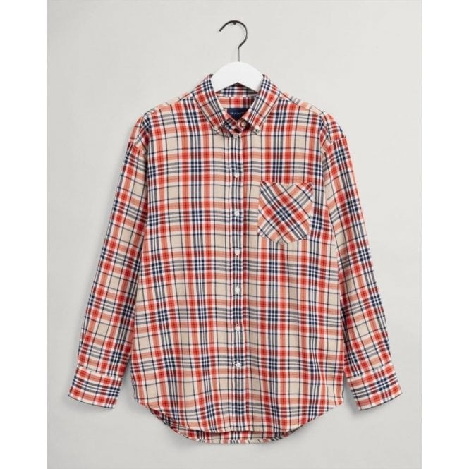 GANT Relaxed Fit Check Flannel Shirt