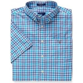 Short-Sleeved Backspin Checked Shirt