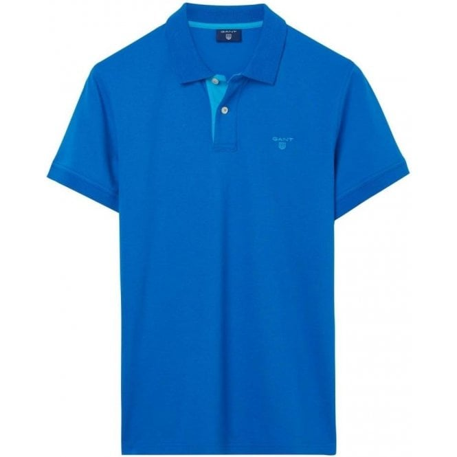 GANT Short-Sleeved Contrast Collar Polo Shirt