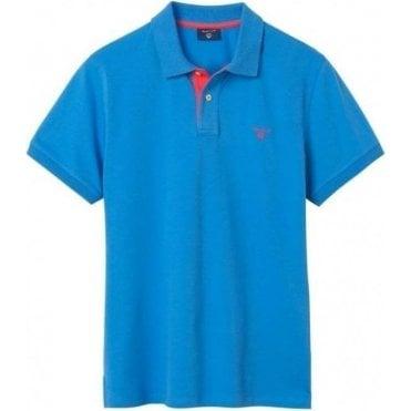Short-Sleeved Contrast Collar Polo Shirt