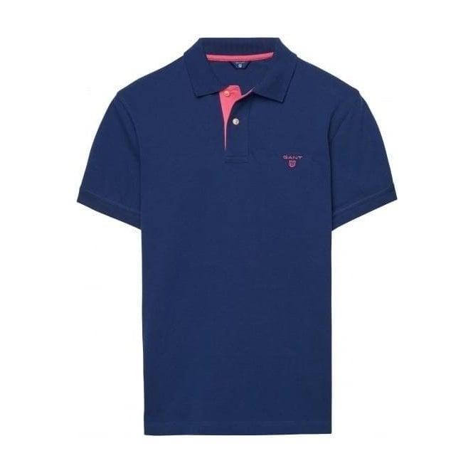 GANT Short-Sleeved Contrasting Piqué Polo